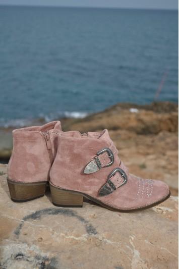 Botín Minna rosa