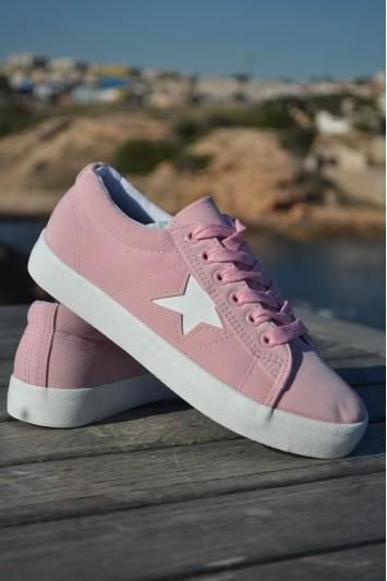 Zapatillas Angie rosa